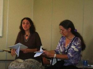 Silvia e Carla da Universidad Nacional de Villa Maria, Argentina